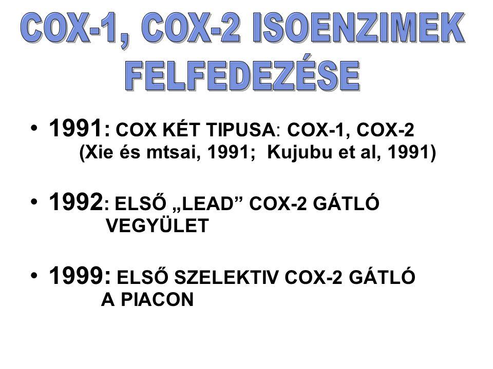 """1992: ELSŐ """"LEAD COX-2 GÁTLÓ VEGYÜLET"""