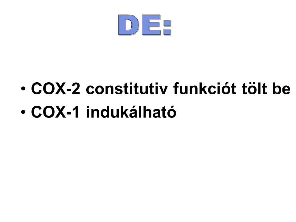 COX-2 constitutiv funkciót tölt be COX-1 indukálható