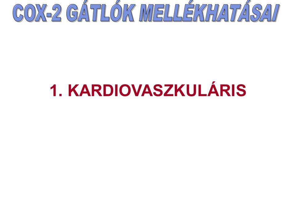 COX-2 GÁTLÓK MELLÉKHATÁSAI