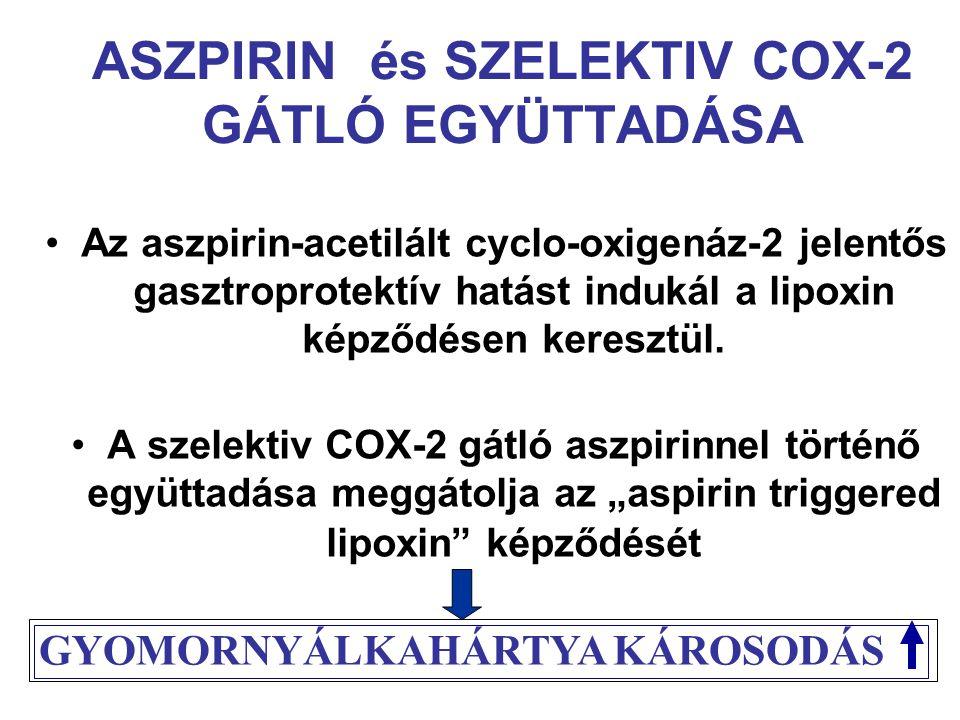 ASZPIRIN és SZELEKTIV COX-2 GÁTLÓ EGYÜTTADÁSA