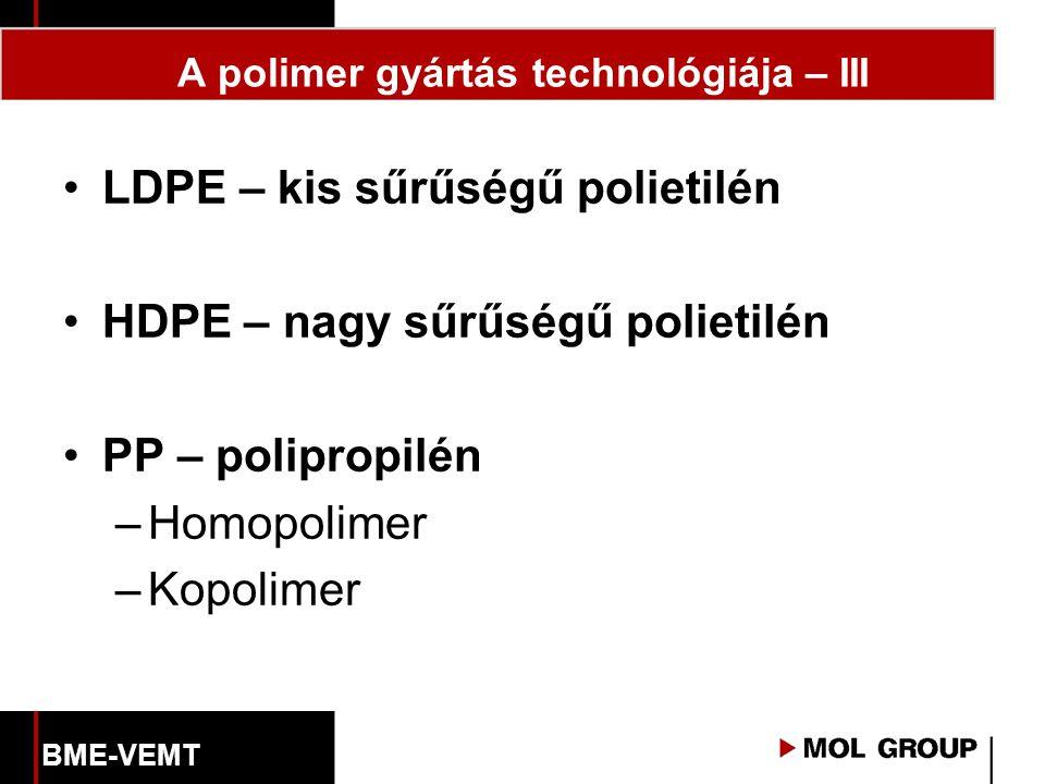 A polimer gyártás technológiája – III