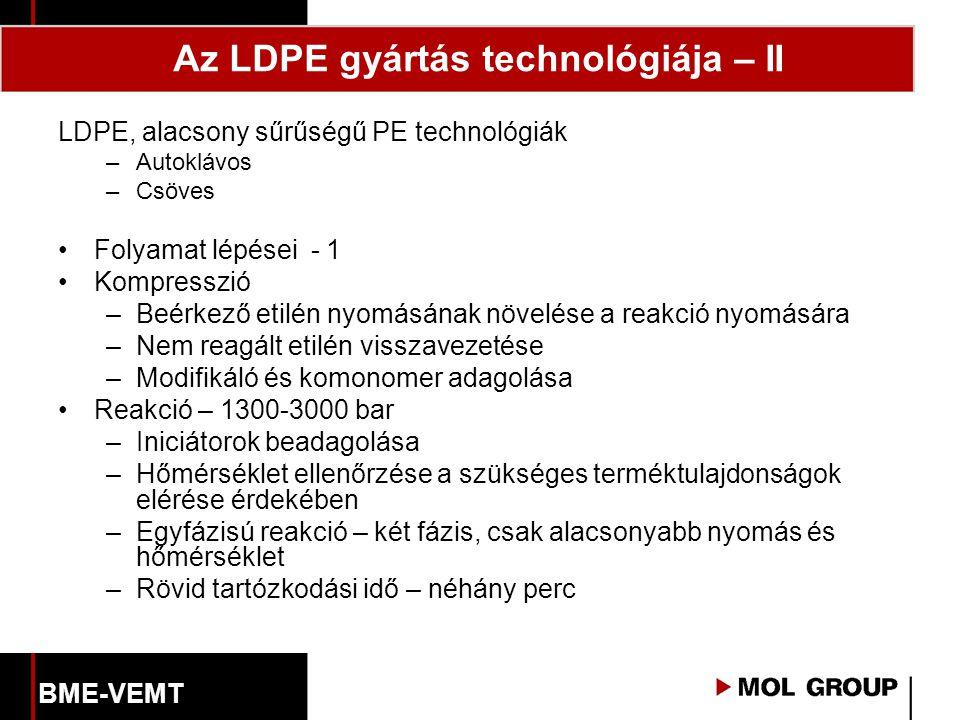Az LDPE gyártás technológiája – II