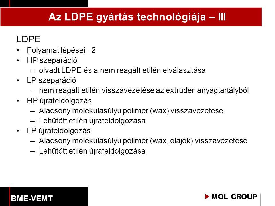 Az LDPE gyártás technológiája – III
