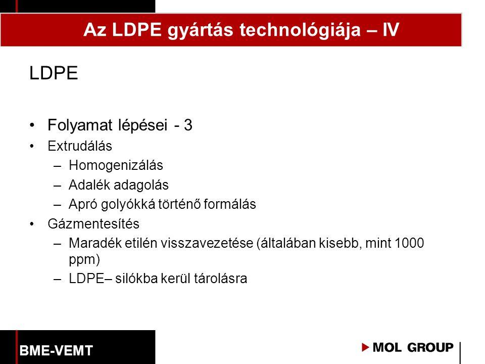 Az LDPE gyártás technológiája – IV