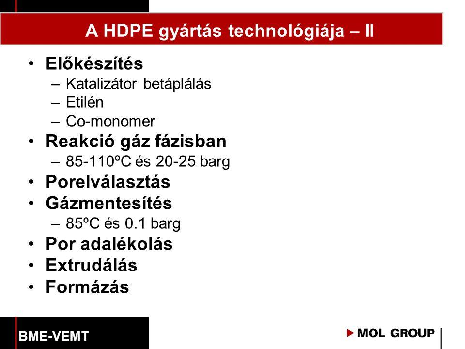 A HDPE gyártás technológiája – II