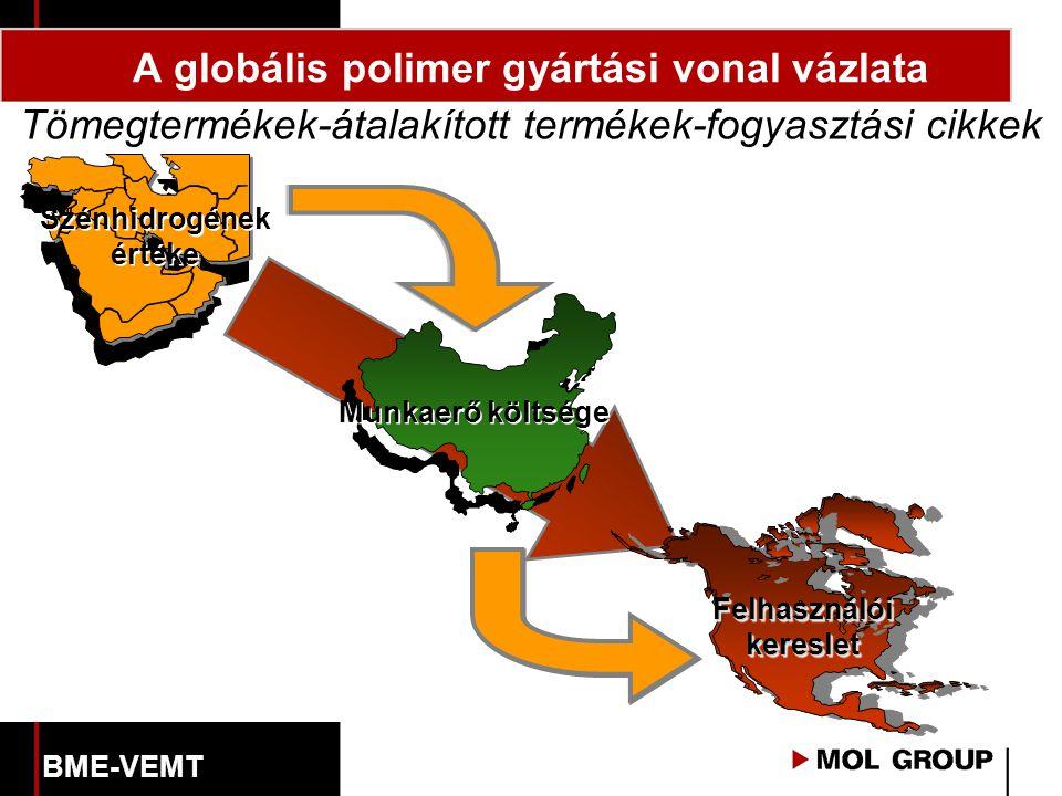 A globális polimer gyártási vonal vázlata