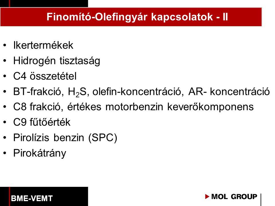 Finomító-Olefingyár kapcsolatok - II