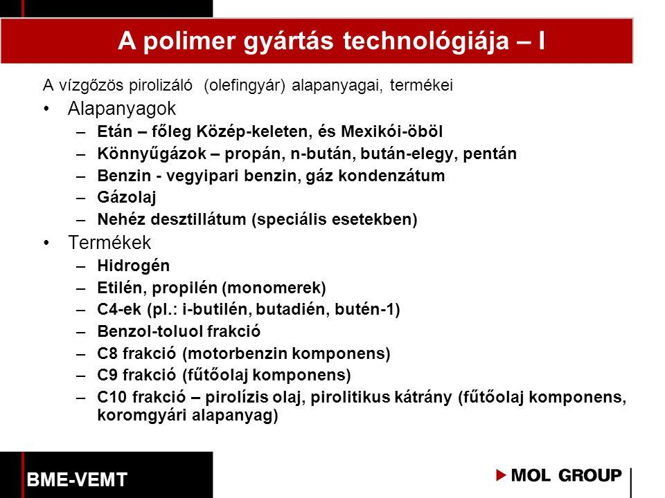 A polimer gyártás technológiája – I