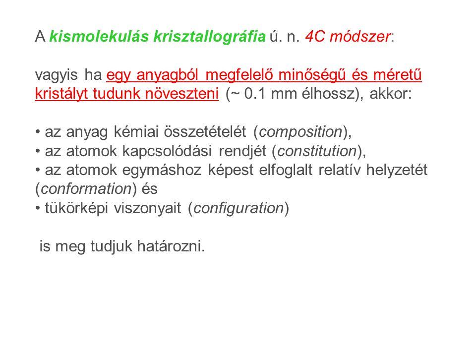 A kismolekulás krisztallográfia ú. n. 4C módszer: