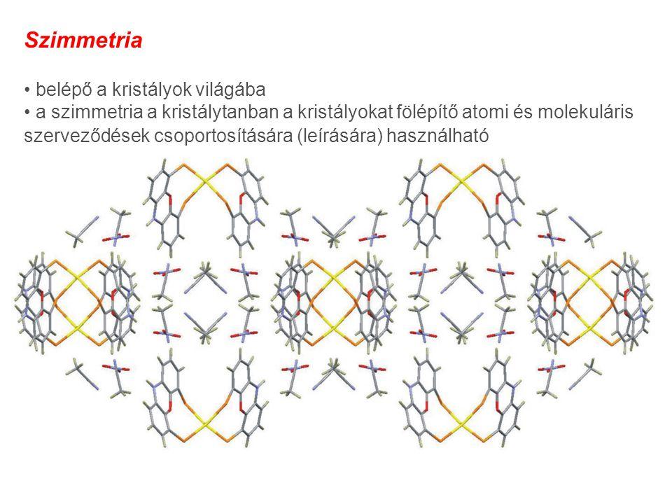 Szimmetria • belépő a kristályok világába