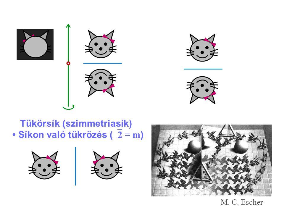 Tükörsík (szimmetriasík) • Síkon való tükrözés (2 = m)