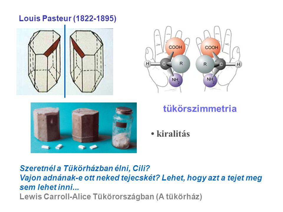 tükörszimmetria • kiralitás Louis Pasteur (1822-1895)