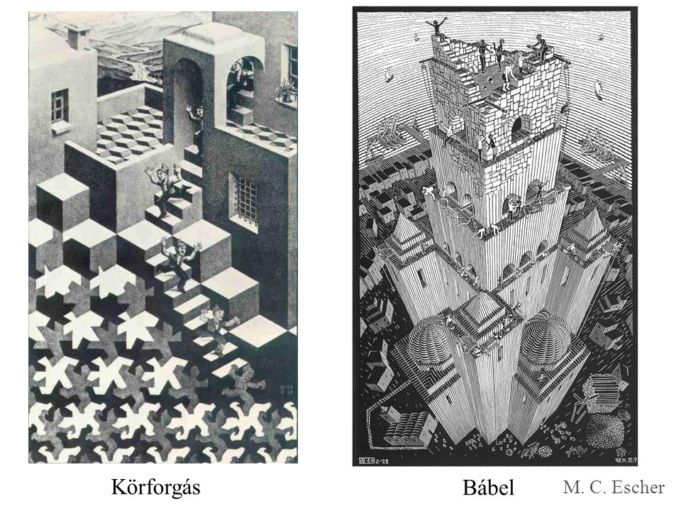 Körforgás Bábel M. C. Escher