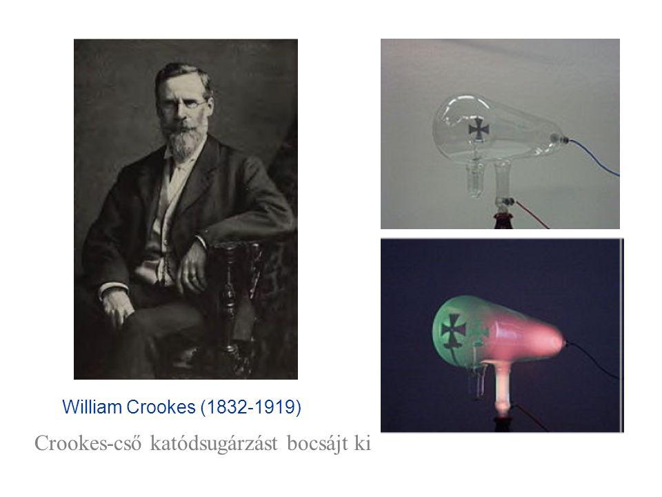 Crookes-cső katódsugárzást bocsájt ki