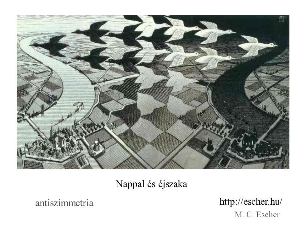 Nappal és éjszaka antiszimmetria http://escher.hu/ M. C. Escher