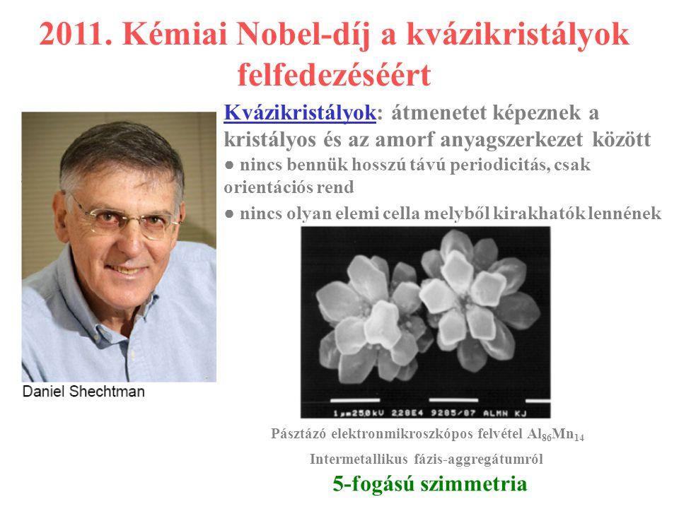 2011. Kémiai Nobel-díj a kvázikristályok felfedezéséért