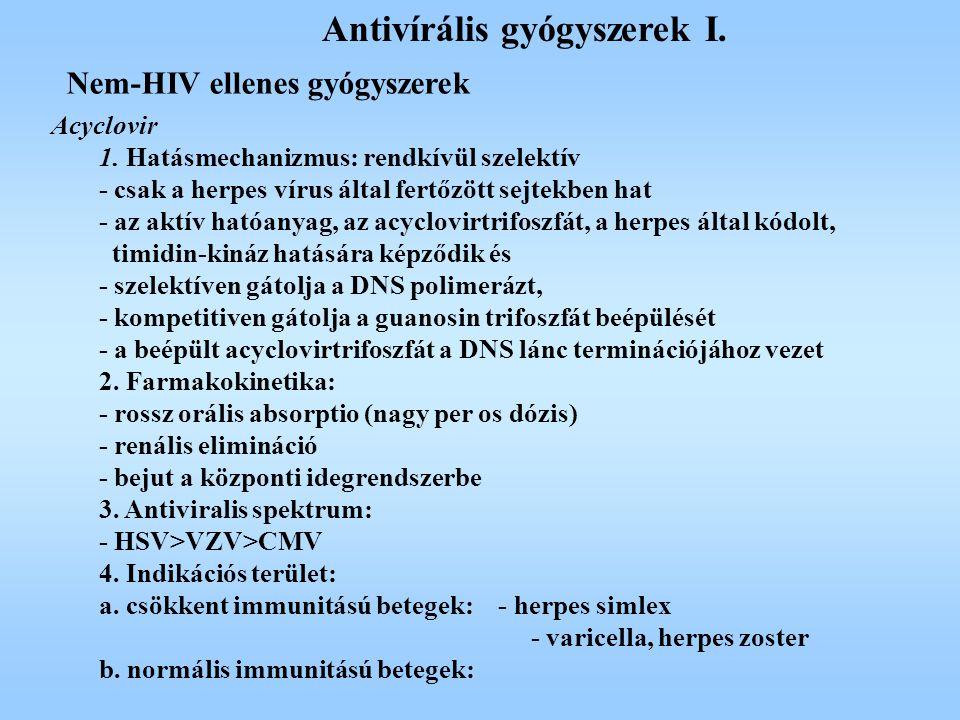 Antivírális gyógyszerek I.