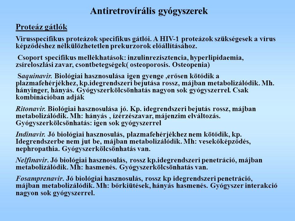 Antiretrovírális gyógyszerek