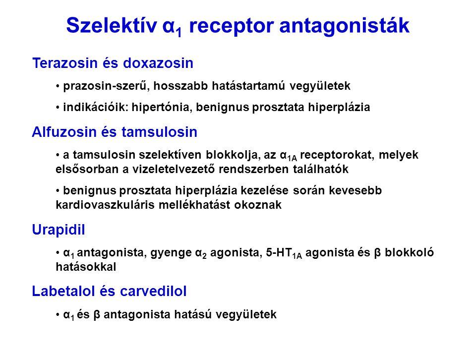 Szelektív α1 receptor antagonisták