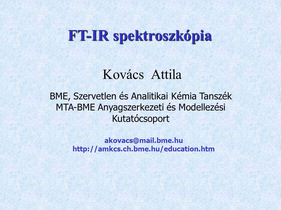 FT-IR spektroszkópia Kovács Attila