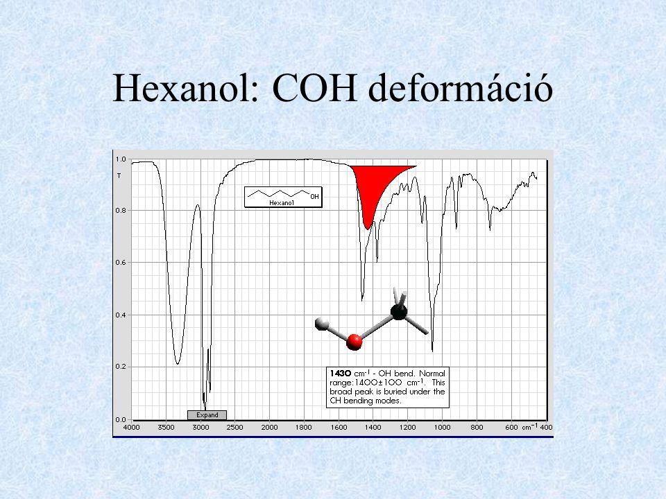 Hexanol: COH deformáció