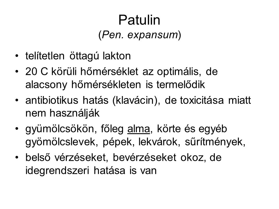 Patulin (Pen. expansum)