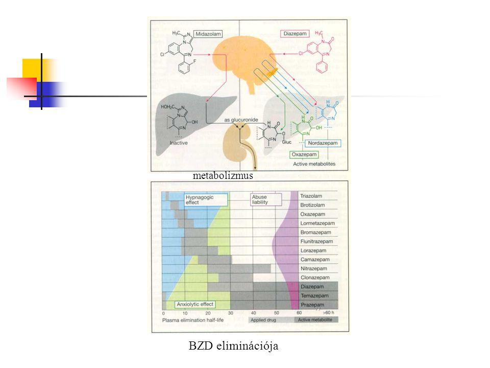 metabolizmus BZD eliminációja