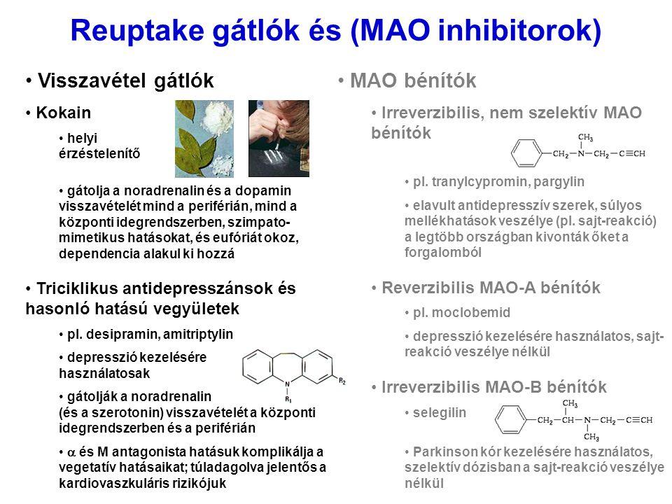 Reuptake gátlók és (MAO inhibitorok)