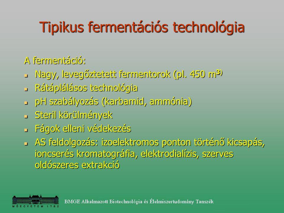 Tipikus fermentációs technológia