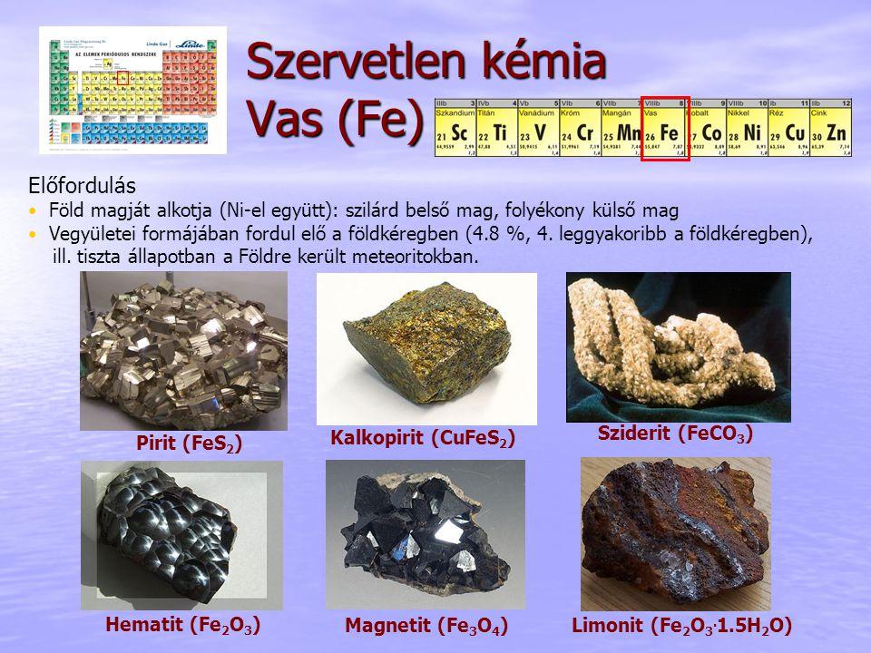 Szervetlen kémia Vas (Fe)