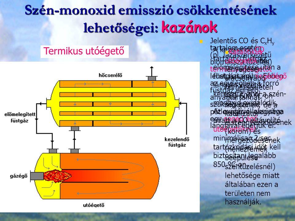 Szén-monoxid emisszió csökkentésének lehetőségei: kazánok