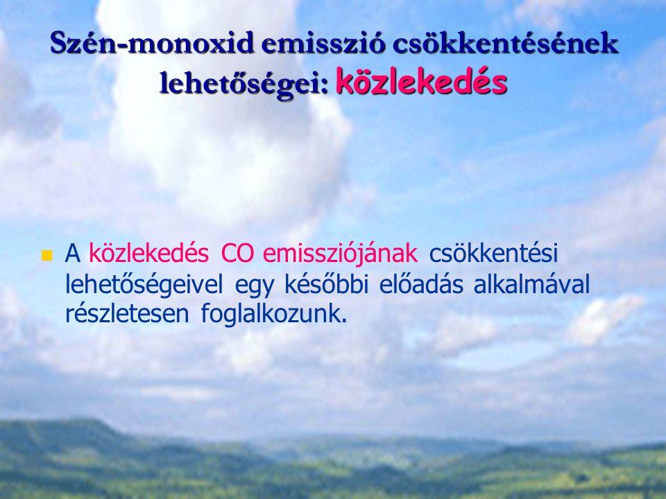 Szén-monoxid emisszió csökkentésének lehetőségei: közlekedés