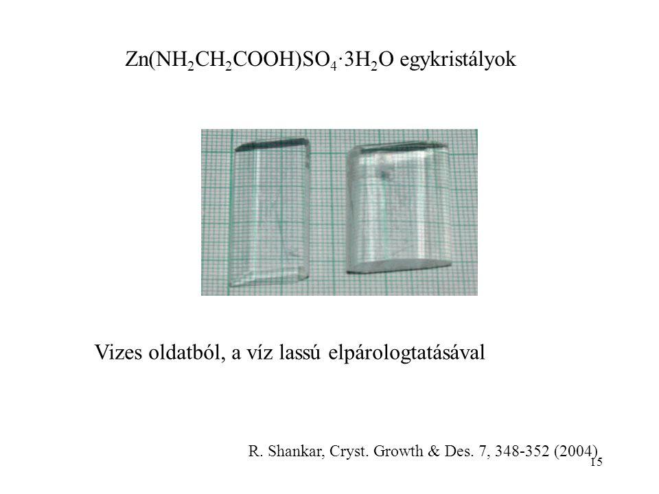 Zn(NH2CH2COOH)SO4∙3H2O egykristályok