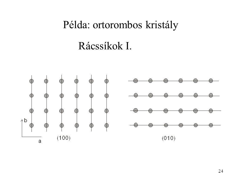 Példa: ortorombos kristály