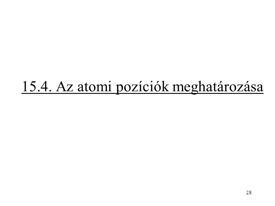 15.4. Az atomi pozíciók meghatározása