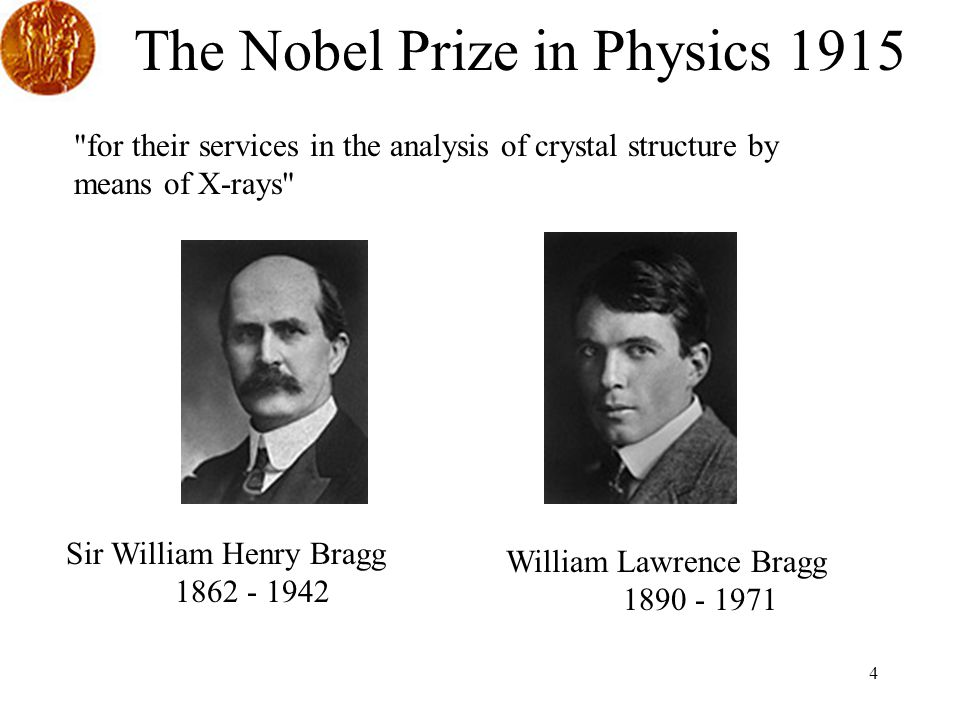 The Nobel Prize in Physics 1915