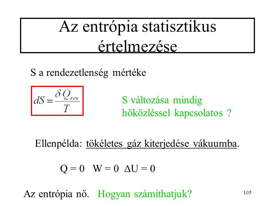 Az entrópia statisztikus értelmezése