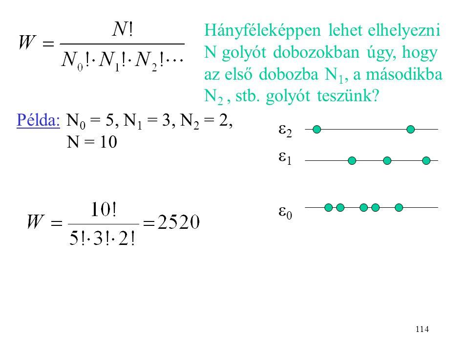 Hányféleképpen lehet elhelyezni N golyót dobozokban úgy, hogy az első dobozba N1, a másodikba N2 , stb. golyót teszünk