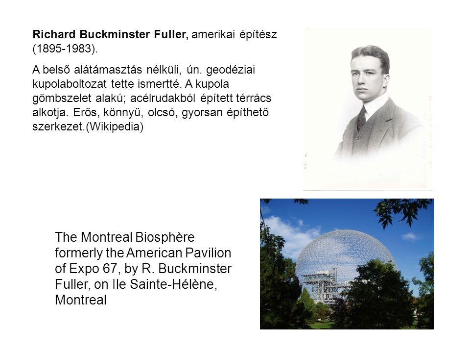Richard Buckminster Fuller, amerikai építész (1895-1983).