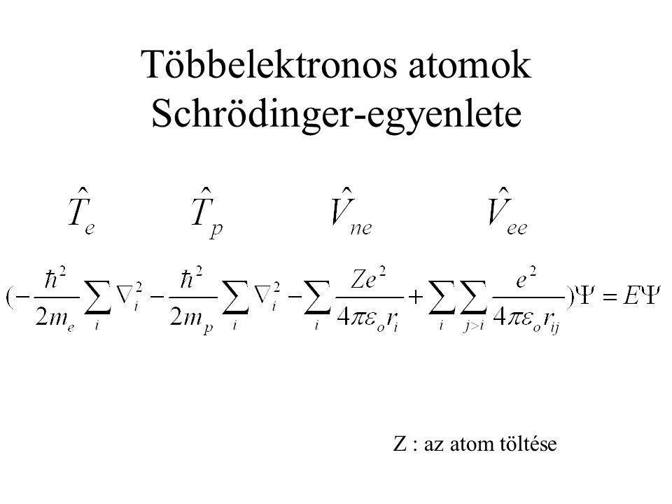 Többelektronos atomok Schrödinger-egyenlete