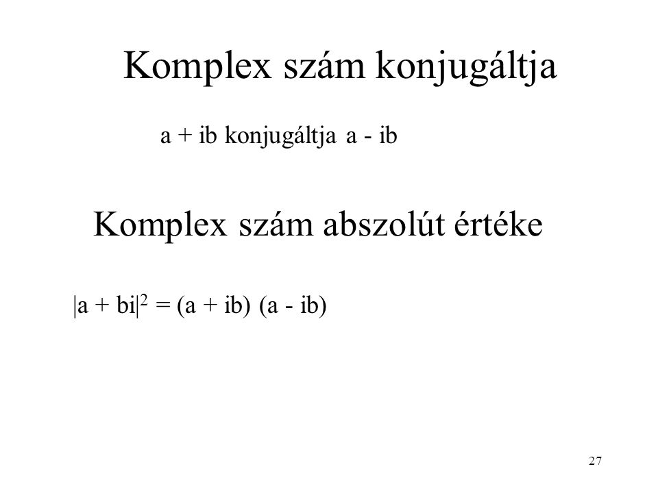 Komplex szám abszolút értéke