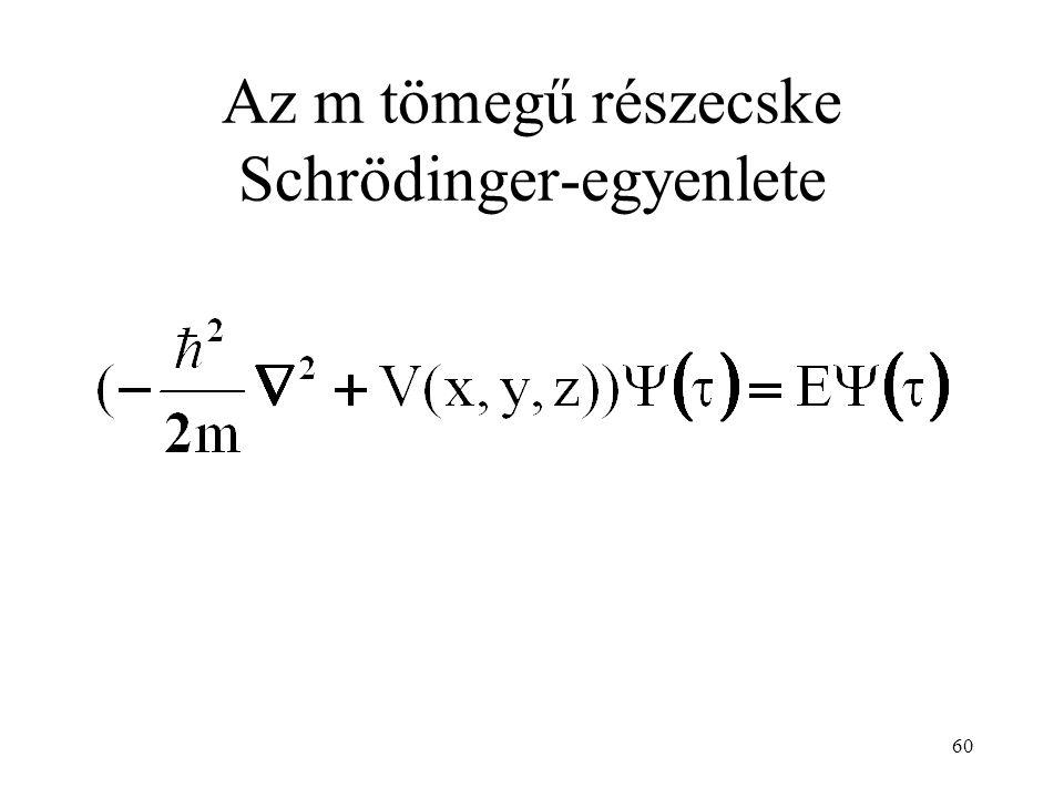 Az m tömegű részecske Schrödinger-egyenlete