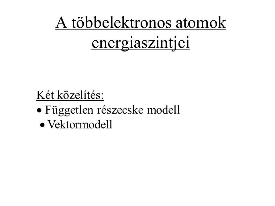 A többelektronos atomok energiaszintjei
