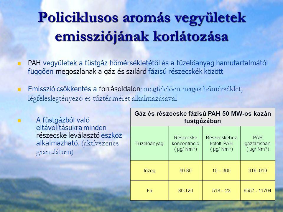 Policiklusos aromás vegyületek emissziójának korlátozása