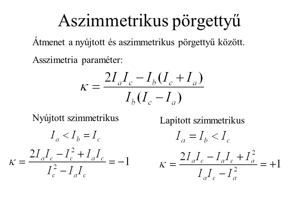 Aszimmetrikus pörgettyű