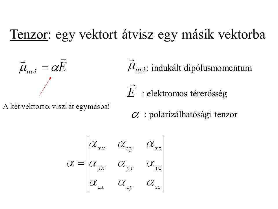 Tenzor: egy vektort átvisz egy másik vektorba