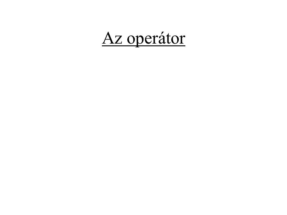 Az operátor