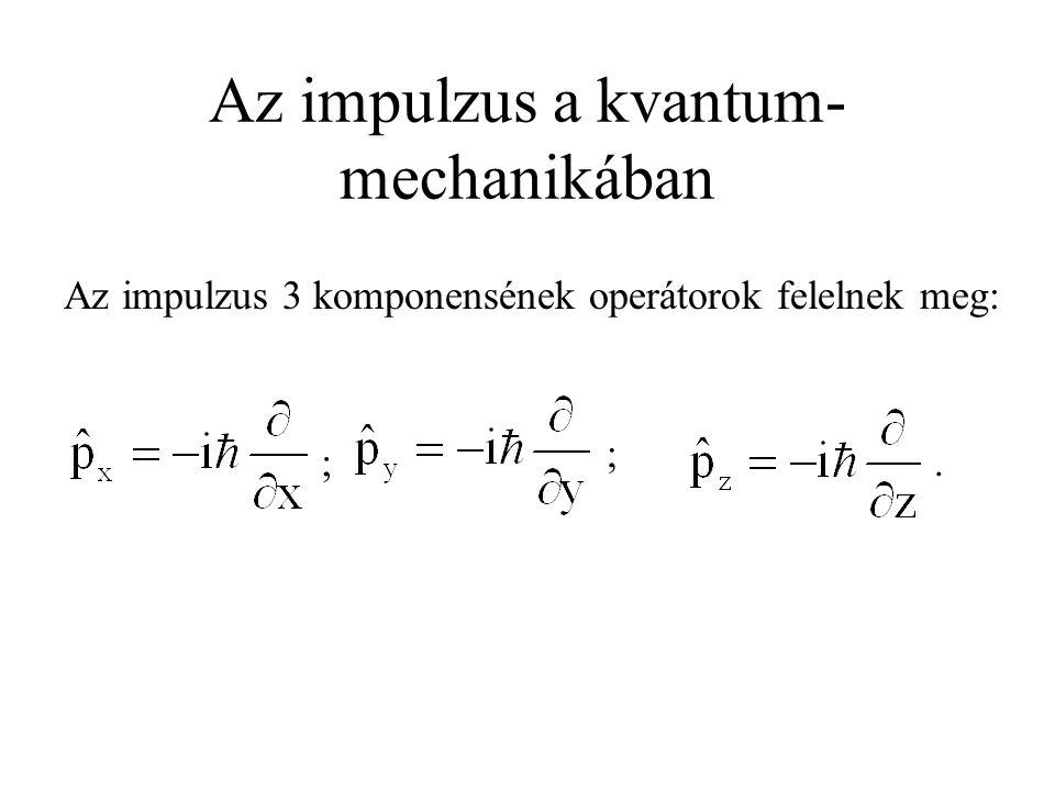Az impulzus a kvantum- mechanikában