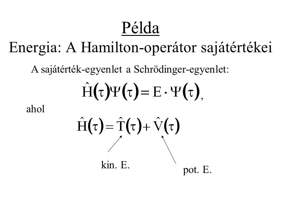 Példa Energia: A Hamilton-operátor sajátértékei