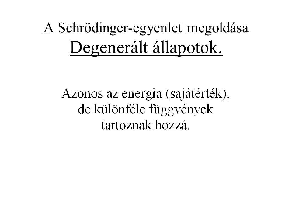 A Schrödinger-egyenlet megoldása Degenerált állapotok.
